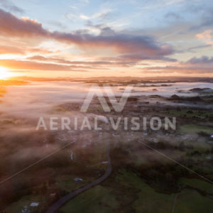 Moerewa Sunrise - Aerial Vision Stock Imagery