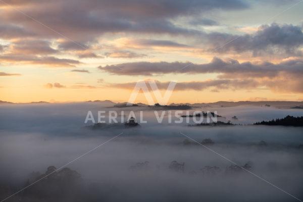 Moerewa Sunrise - Aerial Vision Stock Imagery