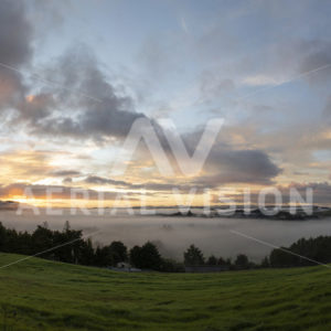 Moerewa Sunrise Panorama - Aerial Vision Stock Imagery