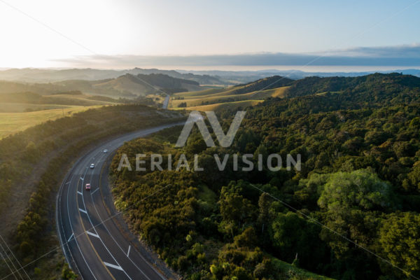 Bull's Gorge Sunrise - Aerial Vision Stock Imagery