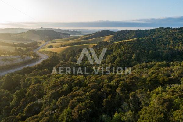 Bull's Gorge Sunrise - Aerial Vision Stock Imagery