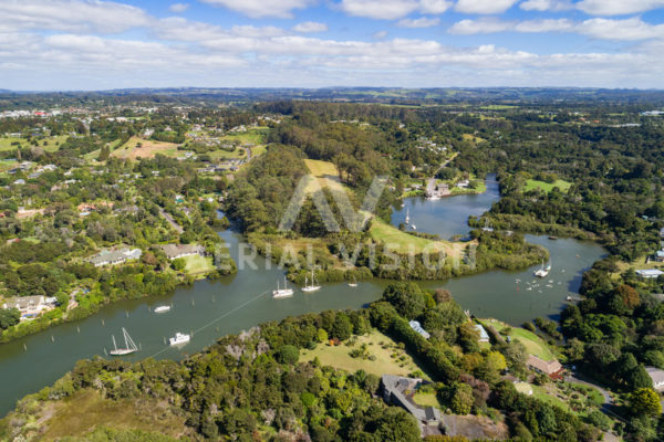 Kerikeri River - Aerial Vision Stock Imagery