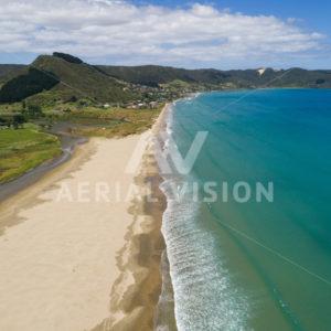 Ahipara, 90 Mile Beach - Aerial Vision Stock Imagery
