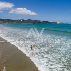 Ahipara, 90 Mile Beach - Aerial Vision Stock Imagery