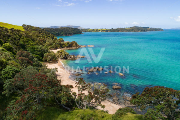 Bay of Islands Beach - Aerial Vision Stock Imagery