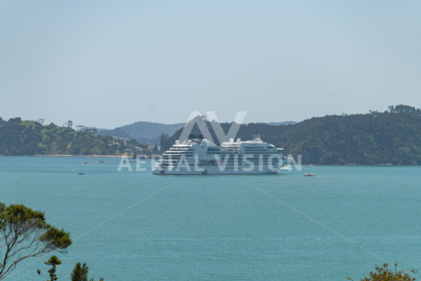 Cruise Ship Paihia - Aerial Vision Stock Imagery