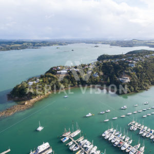 Doves Bay Marina - Aerial Vision Stock Imagery