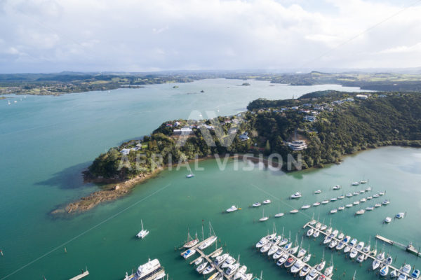 Doves Bay Marina - Aerial Vision Stock Imagery