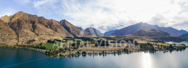 Glendhu Bay Panorama - Aerial Vision Stock Imagery