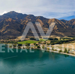 Glendhu Bay Panorama - Aerial Vision Stock Imagery