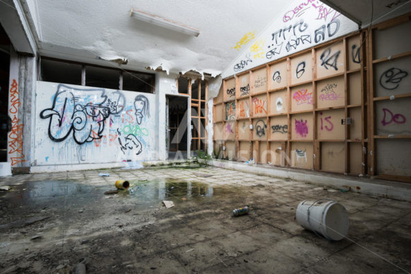 Graffiti Street Art – Christchurch - Aerial Vision Stock Imagery