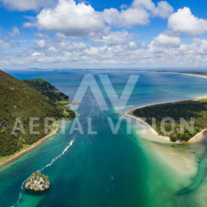 Houhora Heads Panorama - Aerial Vision Stock Imagery