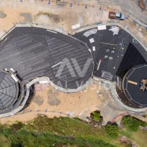 Kawakawa Te Hononga Construction - Aerial Vision Stock Imagery
