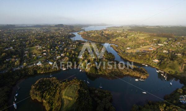 Kerikeri Inlet Panorama - Aerial Vision Stock Imagery