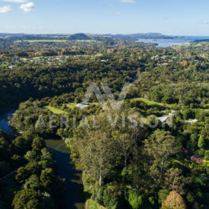 Kerikeri river and bay - Aerial Vision Stock Imagery