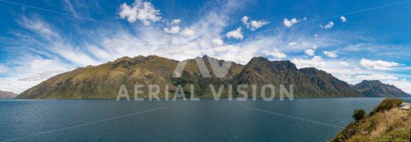 Lake Wakatipu Panorama - Aerial Vision Stock Imagery