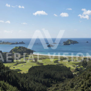 Matauri Bay Panorama - Aerial Vision Stock Imagery