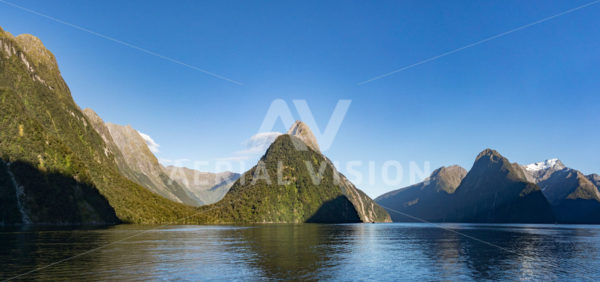 Milford Sound Panorama - Aerial Vision Stock Imagery