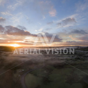 Moerewa Sunrise Panorama - Aerial Vision Stock Imagery