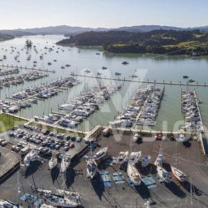 Opua Marina Panorama - Aerial Vision Stock Imagery