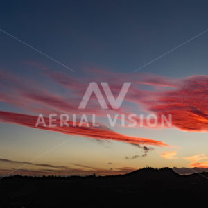 Pink Sunset - Aerial Vision Stock Imagery
