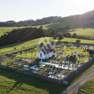 Saint Michael's Anglican Church Cemetery Kaikohe - Aerial Vision Stock Imagery
