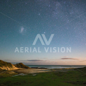 Starry Sunset Hokianga - Aerial Vision Stock Imagery