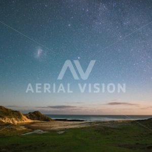 Starry Sunset Hokianga - Aerial Vision Stock Imagery