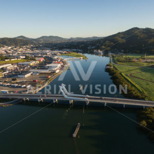 Te Matau o Pohe Bridge Whangarei - Aerial Vision Stock Imagery