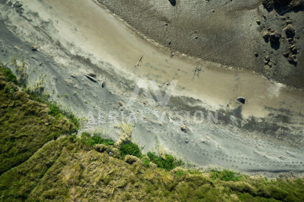 Tussock and Sand Top-down - Aerial Vision Stock Imagery