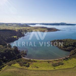 Wairoa Bay , Waitangi - Aerial Vision Stock Imagery