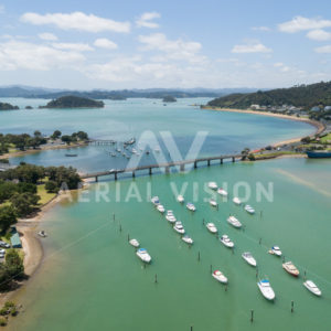 Waitangi bridge - Aerial Vision Stock Imagery