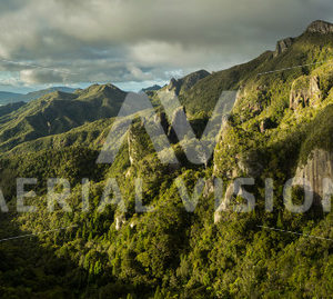 Windy Canyon – Great Barrier Island Panorama - Aerial Vision Stock Imagery
