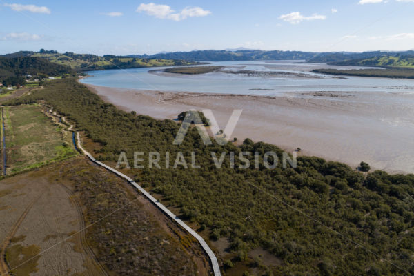 Horeke Boardwalk – Twin Coast Cycle Trail - Aerial Vision Stock Imagery
